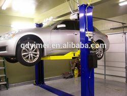Hydraulic floor plate two post car hoist