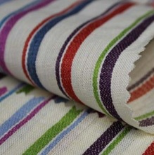 colorful fabric upholstery linen curtain stripes fabric