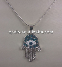 2012 Newest Occident Hot Selling Fatima Hand Pendant Necklace