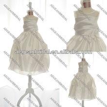 Style PH121103 floor length softly gathered taffeta gown flower girl dress