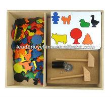 Kids DIY Toy Plastic toy set Happy Hammer farm set