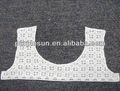 colar de crochet do laço do algodão laço no pescoço