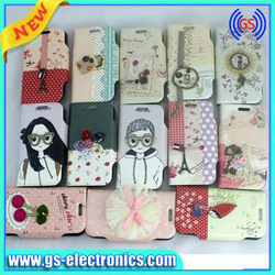 many design in stock for Samsung I9300 Mini I8190 leather case