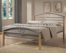 modren bedroom furniture metal single bed metal double bed
