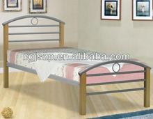 modren bedroom furniture metal single bed metal double bed with wood legs