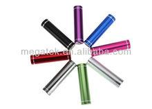 lipstick shape metal case 2600mah mini power bank, universal mobile power bank