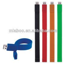 silicone bracelet usb flash drive wrist band hand band usb flash drive factory selling