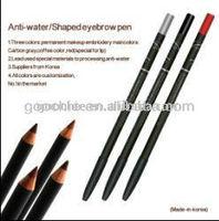 High quality Waterproof eyebrow/eyeliner/lip makeup pencil