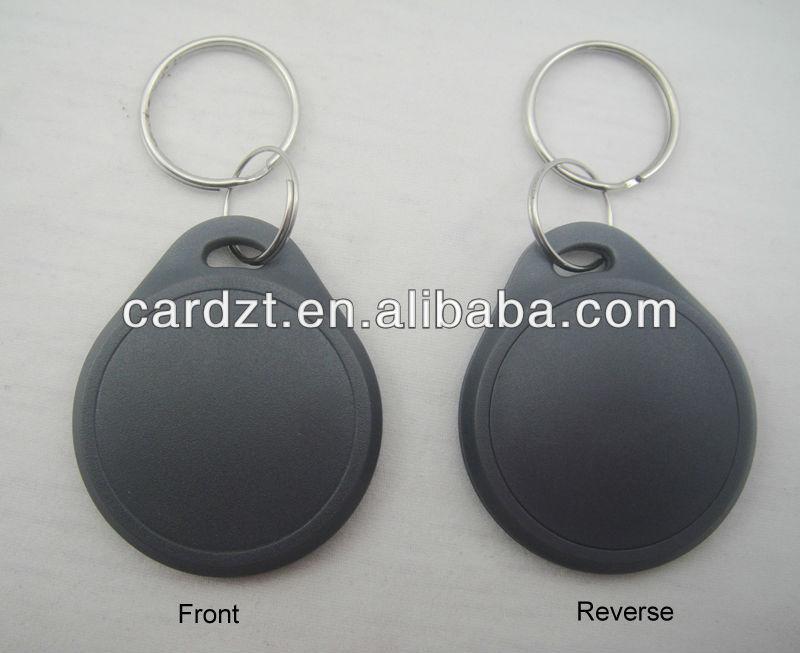De alta calidad de control de acceso de proximidad rfid clave fob/rfid llavero con material abs