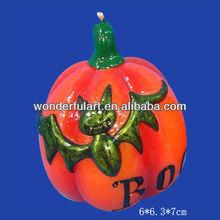 unique holloween pumpkin halloween candle