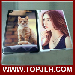 For blank plastic ipad mini case /cover for sublimation