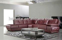 italian leather stylish corner sofa model T833