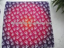 2012 hot seller soft Gradual change color printing big bandana