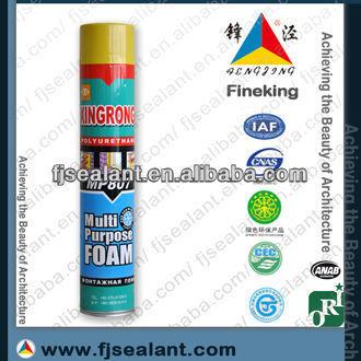 one component cartridge expanding aerosol canned pu foam