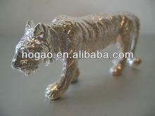 polyresin silvery tiger figurine