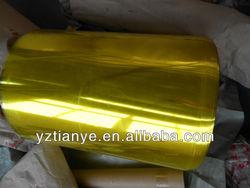 PVC colour plastic roll film for manufacturer