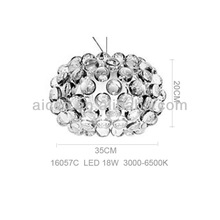 Hot sell popurlar LED clear plastic pvc knobs shade pendant ceiling chandelier