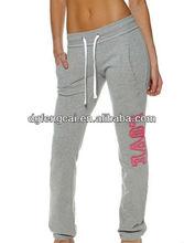 100% cotton custom sweat pants for women