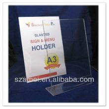 bespoke acrylic A3 portable sign holder, menu block
