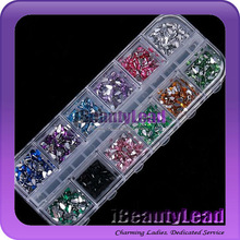 3D nail oval rhinestone for nail art glitter tips professional 12 colors rhinestone