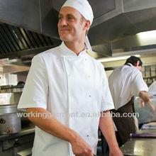 Basic White chefs jacket #lrc0147 - LR white chefs jacket with press studs