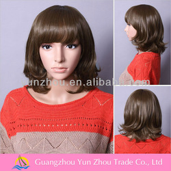 Cheap new curl short natural grey wigs