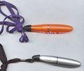 広告のための締縄が付いているプラスチック短いボールペン