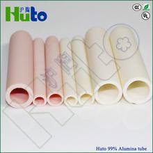 HUTO 99% Alumina Tube Ceramic Tube / Ceramic Pipe
