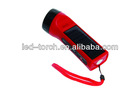 Plastic solar LED torch lighter with cell phone charger