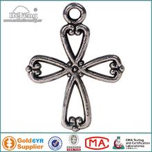 religious small metal cross pendant charms
