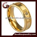 anillos de metal con notas de la música de diseño de logotipo