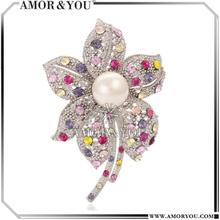USA One Dollar Shop Large Pearl Brooch Wholesale Fashion Brooches JBXA0888R-MU