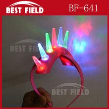 8pcs led Flashing light-up LED spike Mohawk for adult