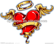 HOT! angel circle red heart temporary body tattoo