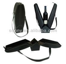 V shape pvc leather special wine box