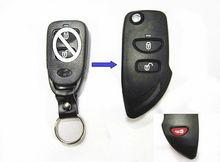 2 button modified remote control hyundai tucson flip car key case for hyundai key shell factory direct