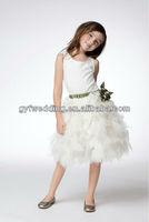 2012 new design flower girls velvet dress 2012168527