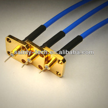 SMA male R/A rf connector with 0.086'' semi-flex FEP cable rf cable assembly