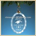 fabricação de vidro oval enfeite de graduação para a classe de 2011 lembrança