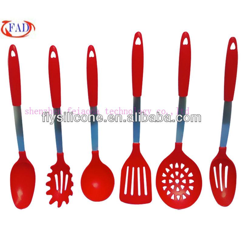 Conjunto de 6 piezas de descuento utensilios de cocina - Utensilios de cocina de silicona ...