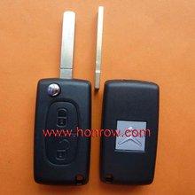 Citroen 2 button flip remote key with VA2 blade 433Mhz ID46 Chip, citroen c4 remote key
