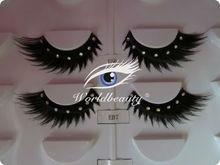 hand made false strips lashes with diamond thick eyelash long eyelash