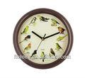 de aves de sonido del reloj de pared
