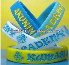 Divers bracelets de silicone de couleur de qualite