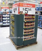 High quality peg hook fashion printed recycled cardboard department store display racks