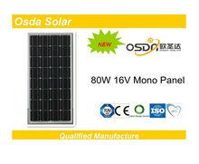 ODA80-16-M 80W 12V solar panel 500w