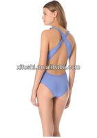 New Design Brand Name Sexy Ruffle Ladies One Piece Swimsuit