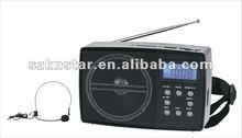 digital fm radio speaker with microphone MIC