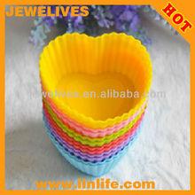 Cheap Colorful silicone mini cake molds