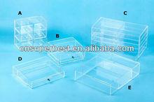 custom acrylic storage box with drawers